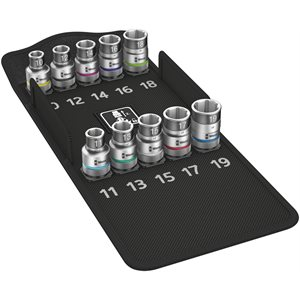 """Zyklop socket set with 1 / 2"""" drive, with holding function, 10 pieces"""
