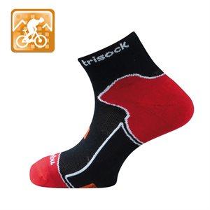 Trisock Bamboo Cycling Socks Black Small (35-38)
