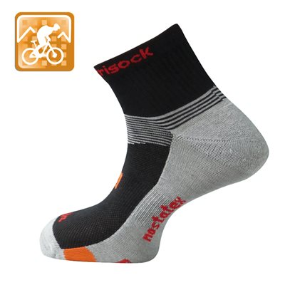 Trisock Soja / Nostatex Cycling Socks Black Small (35-38)