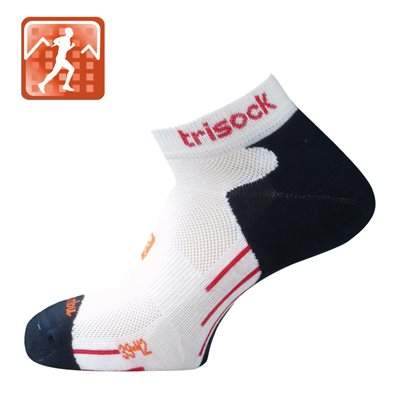 Trisock Bamboo Running Socks White Small (35-38)
