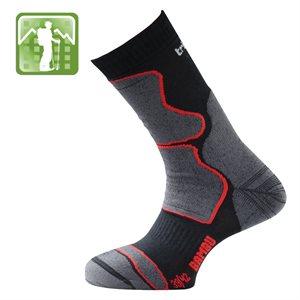 Trisock Trekking Socks Bambou Black / Red X-Large (47-50)