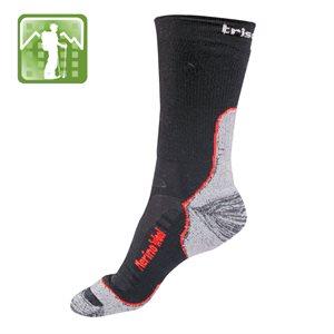 Trisock Trekking Socks Merino Wool Black / Red Small (35-38)