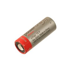 Non-Rechargeable Battery, Single Cell, Alkaline, 38 Mah, 12V 23A