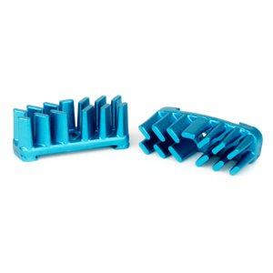 Aluminium Cooling Fins AEROSTREAM Disc Brake Pads Blue