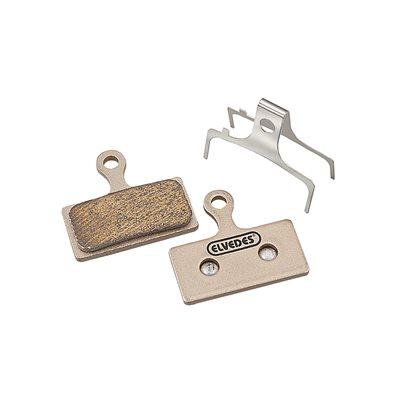 Sintered disc brake pads compatible Shimano, Elvedes