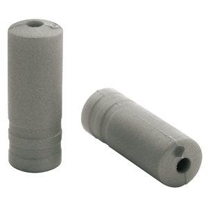 150 embouts Ø4,3mm PVC argent