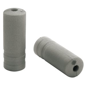 150 Ferrules Ø4,3mm PVC Silver