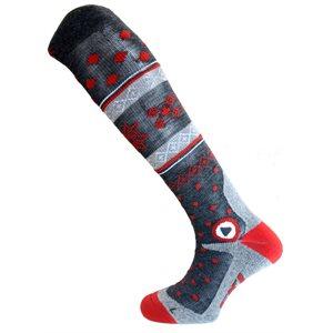 Enforma Freeski Hot Compression Socks Grey / Red 36 / 38