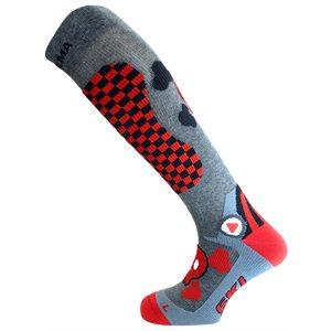 Enforma Freeski Hot Compression Socks Gris / Red 36 / 38