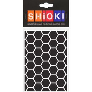 Reflective Honeycomb pieces Black