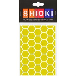 Reflective Honeycomb pieces Yellow