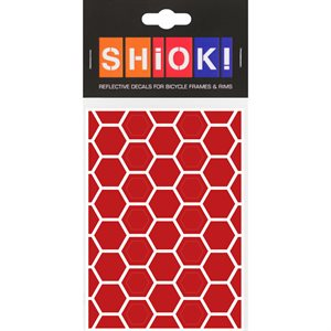 Reflective Honeycomb pieces Red