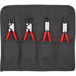 """4 Pc Circlip """"Snap-Ring"""" Pliers Set In Tool Roll"""