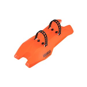 Arkansas Dirtboard Fender Flame Orange / Signature Grey