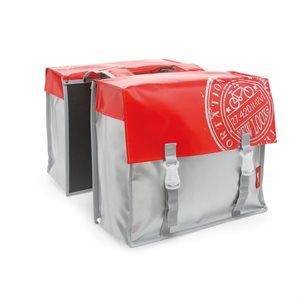 Bisonyl Double Pannier Waterproof Red / Silver