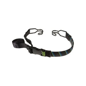 "Adjustable Stretch Strap 18"" To 120"" (10') Black / Green"