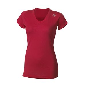 Lightwool T-Shirt Col Rond Femme Framboise X-Small
