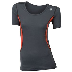 Lightwool T-Shirt Col Rond Femme Poinciana Iron Gate Medium